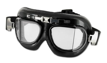 Brille Retro Air Force klar, schwarz