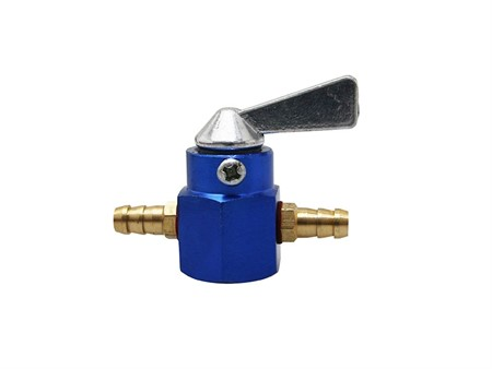 Benzinhahn universal Ø 6 mm blau