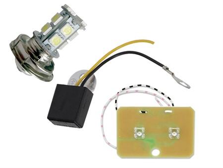 Led-Set 6V, Birne P26S, Spannungsregler, Rücklicht