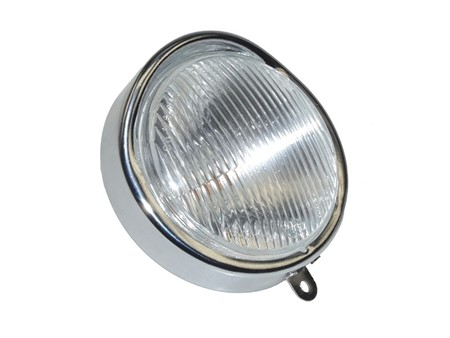 Eierlampe chrom (Befestigung seitlich)