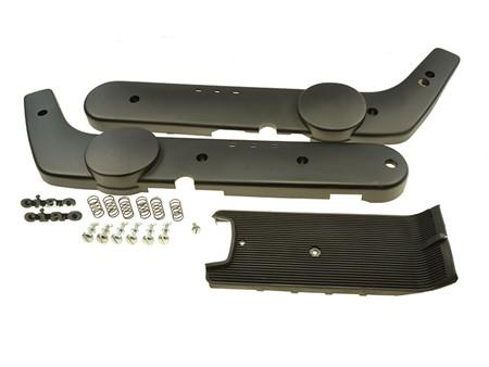 Seitenschutz-Kit schwarz inkl. Schrauben u Trittbrett, Piaggio Ciao Mono