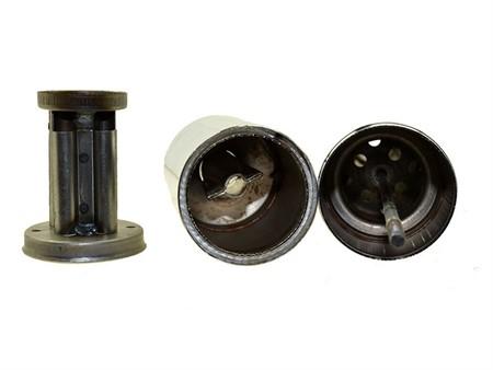 Resonanz-Auspuff 28mm schwarz, Puch Velux