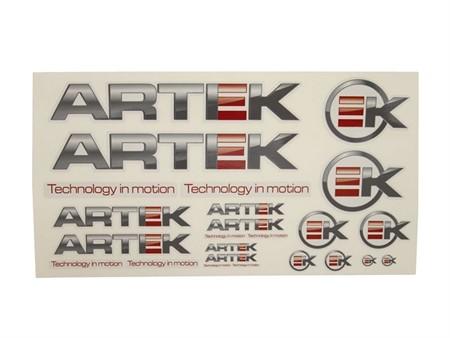 Aufkleberset Artek 24stk. grau-transparent (440x230mm)