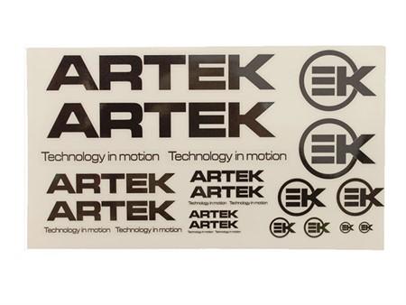 Aufkleberset Artek 24stk. schwarz-transparent (440x230mm)