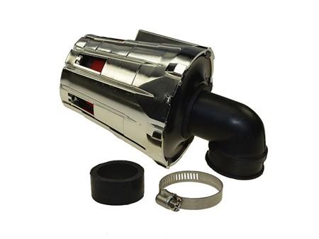 Luftfilter Replay E5 28-35mm glanz 90 Grad Anschluss chrom/rot