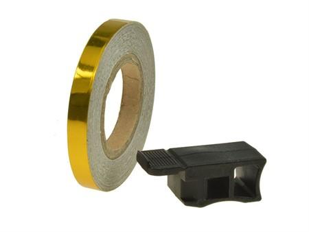 Felgenband Replay, 7mm breit, 6m inkl. Montagehilfe, gold