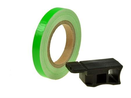 Felgenband Replay, 7mm breit, 6m inkl. Montagehilfe, grün
