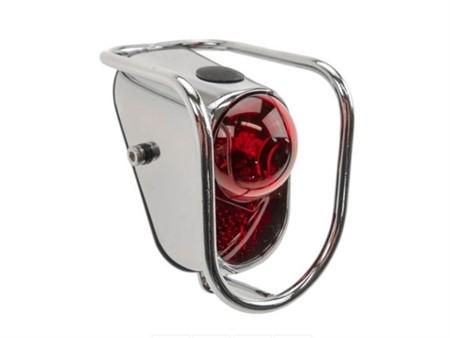 Rücklicht oval mit Schutzbügel