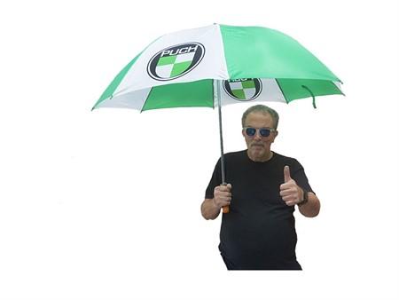Puch Regenschirm grün / weiss