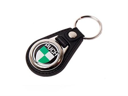 Schlüsselanhänger Puch mit Logo schwarz
