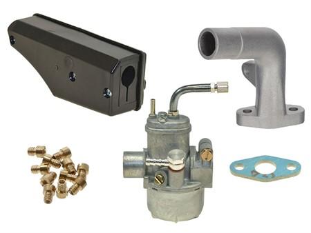 Vergaser Bing 15mm, Set inkl. Stutzen lang und Racing Luftfilter zu Sachs 503