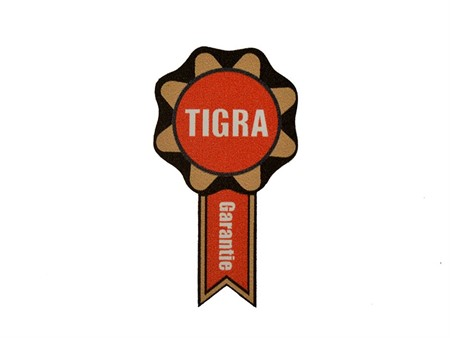 Aufkleber Tigra Garantie