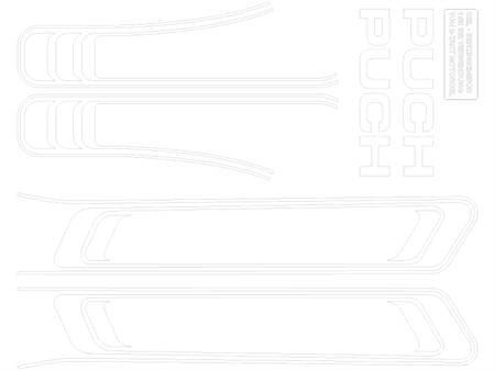 Abziehbild weiss Puch Maxi (1A. Qualität)