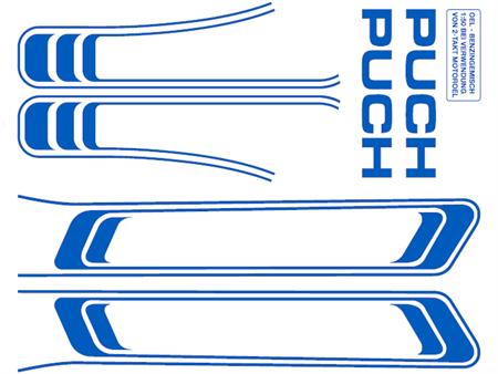 Abziehbild blau Puch Maxi (1A. Qualität)