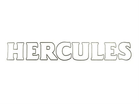 Hercules Aufkleber (freigestellt) schwarz / weiss 189 x 28 mm