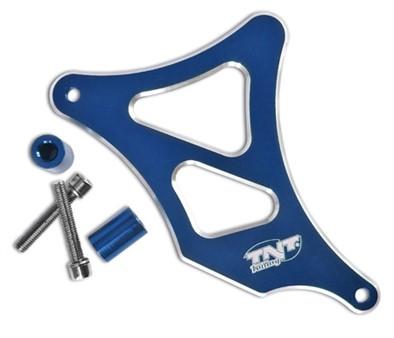 Abdeckung Ritzel TNT Minarelli AM6, Blau Eloxiert