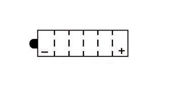 Batterie YB12AL-A Yuasa (leer)
