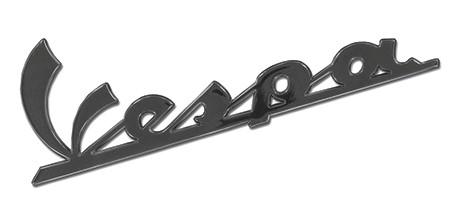 Emblem Seitendeckel anthrazit Vespa 150 x 50 mm selbstklebend