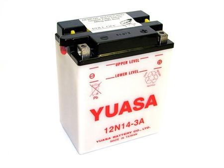 Batterie 12N14-3A, Yuasa, (leer)