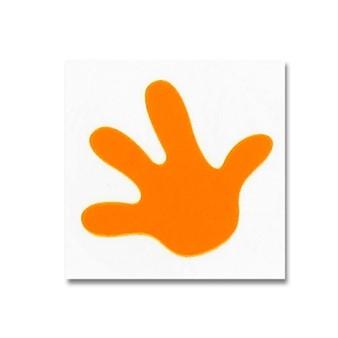 Aufkleber Hand orange Bye Bike