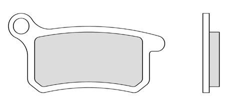 Bremsbeläg hinten Galfer organisch 61.5 x 31.5 x 6.5 mm