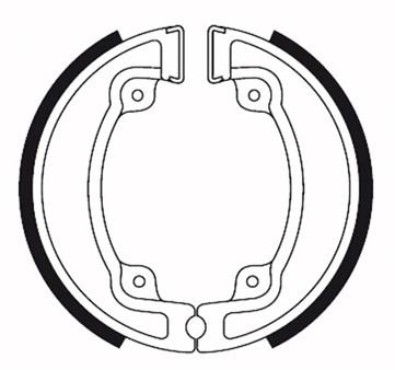 Bremsbacken (Trommelbremse) hinten Galfer organisch Ø 130 x 25mm