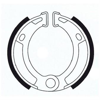 Bremsbacken (Trommelbremse) hinten organisch T22, Ø 90 x 18 mm