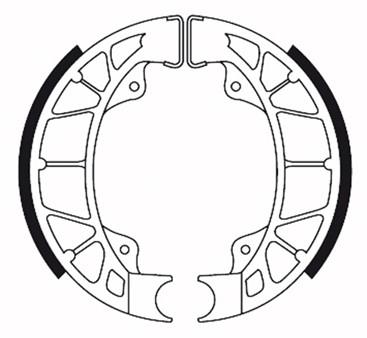 Bremsbacken (Trommelbremse) hinten, Galfer organisch, Ø 110 x 25mm