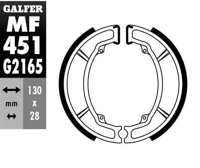 Bremsbacken Galfer 130x28mm