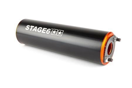 Auspuffanlage Stage6 Streetrace CNC orange / schwarz Derbi / Minarelli AM6