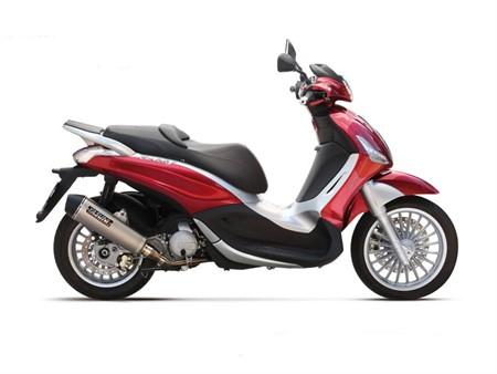 Auspuffanlage Yasuni EVO4 Titanium Look, Aprila/Derbi/Gilera/Piaggio 125cc 4T