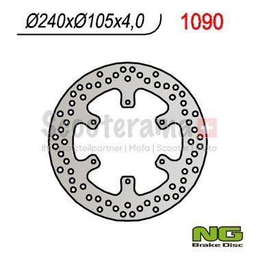 Bremsscheibe NG Brake Disc 240/105/4mm (6 Loch)