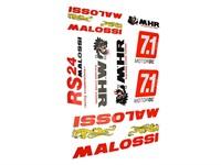 Aufkleber-Set Malossi gross (DIN A3)