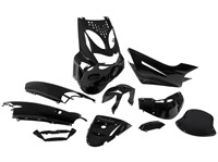 Verkleidungskit STR8 komplett, 10-teilig, Aprilia SR50, schwarz