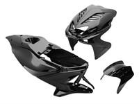 Verkleidungskit Replay 8-teilig MBK Nitro/Yamaha Aerox schwarz