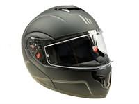 Helm MTHelmets (Klapphelm) schwarz mat Doppelvisier  (Grösse M)