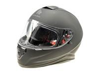 Helm MTHelmets schwarz mat Doppelvisier (Grösse M)