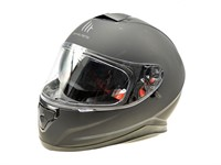 Helm MTHelmets schwarz mat Doppelvisier (Grösse L)