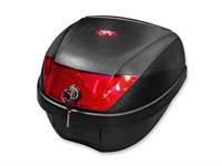 Top Case KXM WR 28 Liter schwarz/rot inkl. Halterung