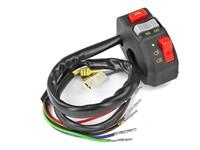 Schalter links universal mit Lichtschalter / Hupe / Start-/Stopp-Knopf