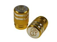Ventildeckel Kolben 2 Stk. Alu Gold