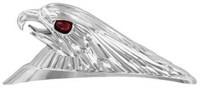 Zierfigur Adler chrom aus Kunststoff