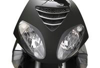 Scheinwerferblende schwarz, Piaggio NRG Power