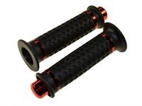 Lenkergriffe round rot/schwarz