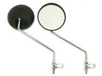 Rückspiegel Mofa chrom/schwarz (2 Stück)
