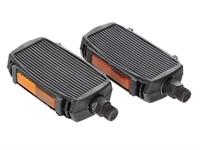 Pedal-Set Solex Gewinde M14x1.25mm schwarz/chrom