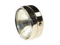Lampe rund chrom, mit Schalter