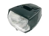 Lampe eckig schwarz, mit Schalter