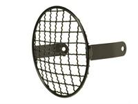 Lampengitter schwarz rund, (Ø 13 cm), vorne
