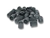 Ventilkappen Kunststoff (PVC) schwarz (25 Stück)